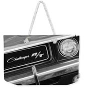 1970 Dodge Challenger Rt Convertible Grille Emblem Weekender Tote Bag