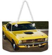 1970 Plymouth Hemi 'cuda Weekender Tote Bag