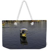2 Kashmiri Men Heading Towards The Camera In A Small Wooden Boat Weekender Tote Bag