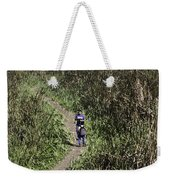 2 Photographers Walking Through Tall Grass Weekender Tote Bag
