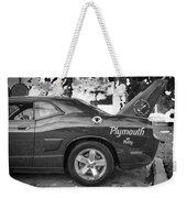 2010 Plymouth Superbird Bw  Weekender Tote Bag
