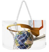 3d Rendering Of Planet Earth Falling Weekender Tote Bag by Leonello Calvetti