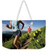 A Couple Trail Running Weekender Tote Bag