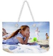 A Cute Little Hispanic Girl In A Summer Weekender Tote Bag