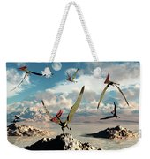 A Flock Of Thalassodromeus Pterosaurs Weekender Tote Bag