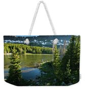 A Fly Fisherman Fishes A High Alpine Weekender Tote Bag
