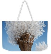A Frosted Willow On A Very Cold And Bright Winter Day Weekender Tote Bag