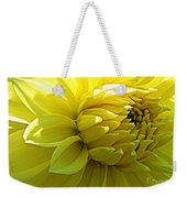 Golden Dahlia Weekender Tote Bag
