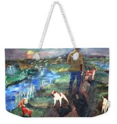 A Man And His Dogs Weekender Tote Bag