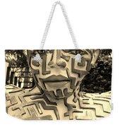 1 A Maze Ing Man Sepia Weekender Tote Bag
