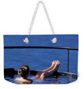 A Nude Woman In A Hot Spring Weekender Tote Bag