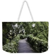 A Raised Walking Path Inside The National Orchid Garden In Singapore Weekender Tote Bag