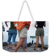 A Sign Marks The End Of The Line Weekender Tote Bag