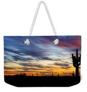 A Silhouette Sunset  Weekender Tote Bag