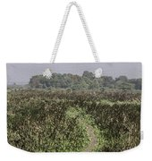 A Small Path Through Very Tall Grass Inside The Okhla Bird Sanctuary Weekender Tote Bag