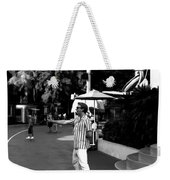 A Street Entertainer In The Hollywood Section Of Universal Studios Weekender Tote Bag