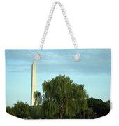 A Weeping Willow Washington Monument Weekender Tote Bag