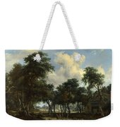 A Woody Landscape With A Cottage Weekender Tote Bag