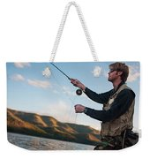 A Young Man In His Early Thirties  Fly Weekender Tote Bag