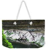 A Young Woman Enjoys The Hamilton Pool Weekender Tote Bag
