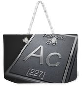 Actinium Chemical Element Weekender Tote Bag