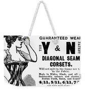 Advertisement Corset Weekender Tote Bag