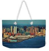 Aerial Morning View Of Boston Skyline Weekender Tote Bag