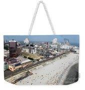 Aerial Of Downtown Atlantic City Weekender Tote Bag