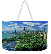 Aerial View Of Chicago, Illinois Weekender Tote Bag
