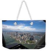 1-aerial View Of Manhattan Weekender Tote Bag