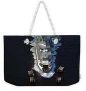 Aerial View Of Passenger Ferry Boat Going To Southworth Puget So Weekender Tote Bag