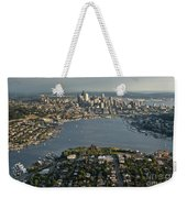 Aerial View Of Seattle Weekender Tote Bag