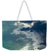 Aerial View Of Tasman Sea Shore Nz North Island Weekender Tote Bag