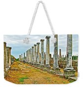 Agora In Perge Where Apostle Paul Preached His First Sermon-turkey  Weekender Tote Bag