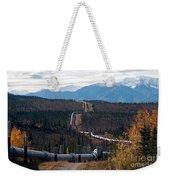 Alaska Oil Pipeline Weekender Tote Bag