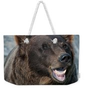 Alaskan Brown Bear Weekender Tote Bag