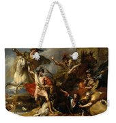 Alexander IIi Of Scotland Rescued From The Fury Of A Stag By The Intrepidity Of Colin Fitzgerald  Weekender Tote Bag