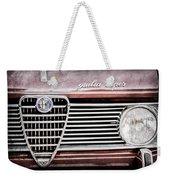 Alfa-romeo Guilia Super Grille Emblem Weekender Tote Bag