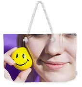 All Smiling Woman Weekender Tote Bag