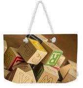 Alphabet Blocks Weekender Tote Bag