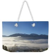 Alpine Village Under Sea Of Fog Weekender Tote Bag