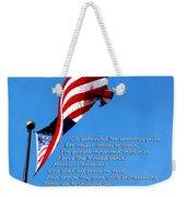 America The Beautiful - Us Flag By Sharon Cummings Song Lyrics Weekender Tote Bag