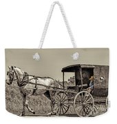 Amish Boy Tips Hat Weekender Tote Bag