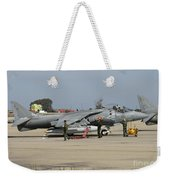 An Av-8b Harrier II Of The Spanish Navy Weekender Tote Bag