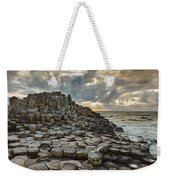 An Evening View Of The Giants Causeway Weekender Tote Bag