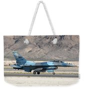 An F-16c Aggressor Jet Landing Weekender Tote Bag
