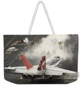 An Fa-18c Hornet Prepares To Launch Weekender Tote Bag