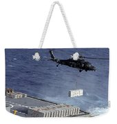 An Mh-60s Sea Hawk Helicopter Picks Weekender Tote Bag