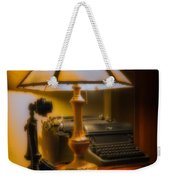 Antique Lamp Typewriter And Phone Weekender Tote Bag