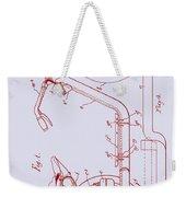 Antique Motorcycle Patent 1921 Weekender Tote Bag